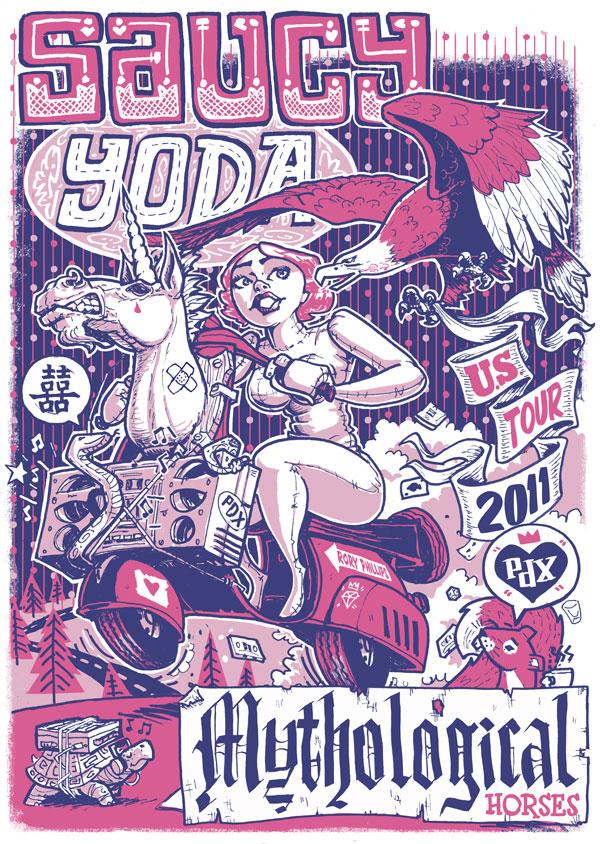 Saucy Yoda Gig Poster