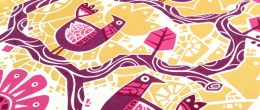Birdtree Screenprint Detail