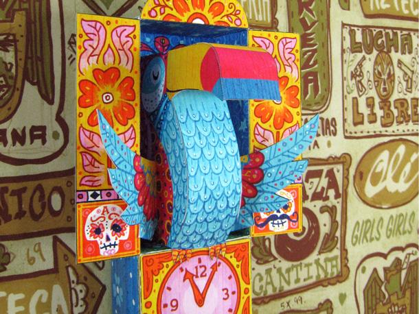 tijuana toucan papercraft