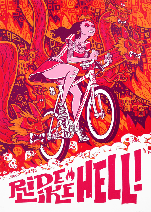 Ride Like Hell Bike Poster