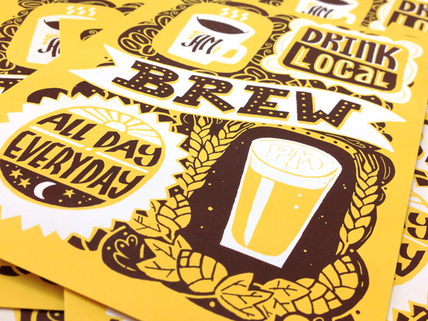 Drink Local Brew screen print