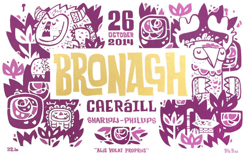 Bronagh Birth Announcement Detail
