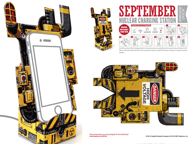 phone dock papercraft
