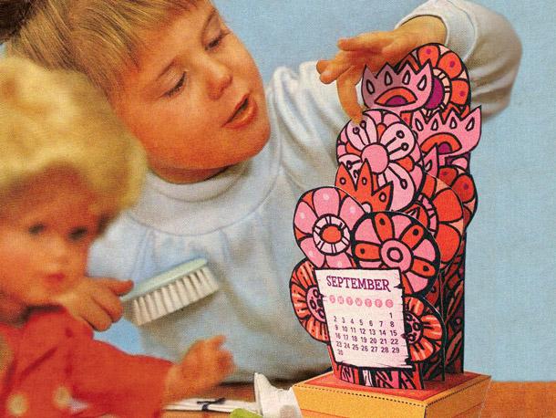 tiki papercraft calendar
